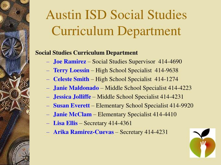 Austin ISD Social Studies Curriculum Department