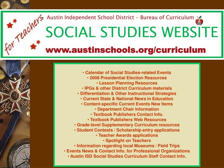 Calendar of Social Studies-related Events