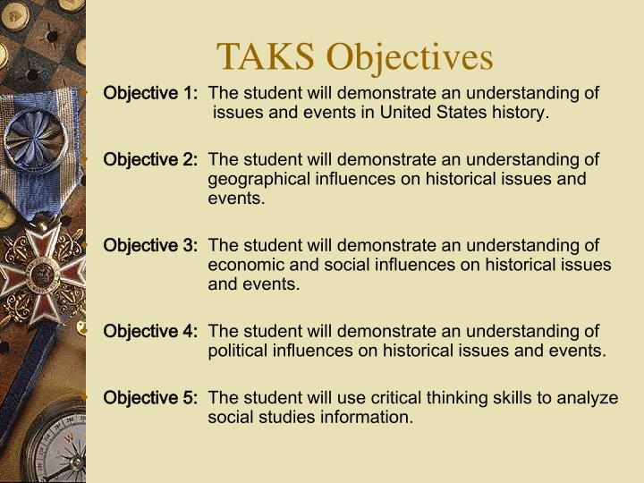 TAKS Objectives