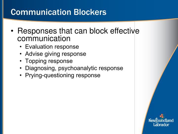 Communication Blockers