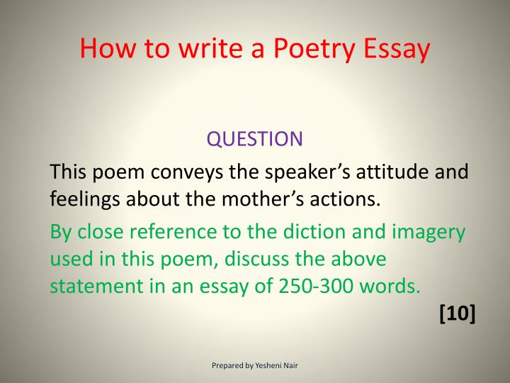How To Write Poems In An Essay