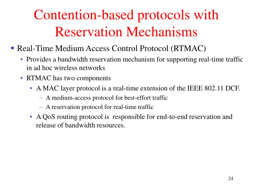 Contention-based protocols with Reservation Mechanisms