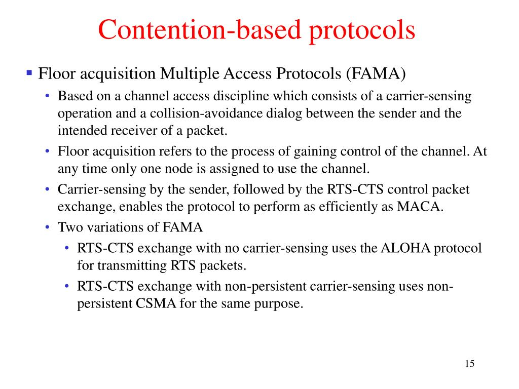 Contention-based protocols