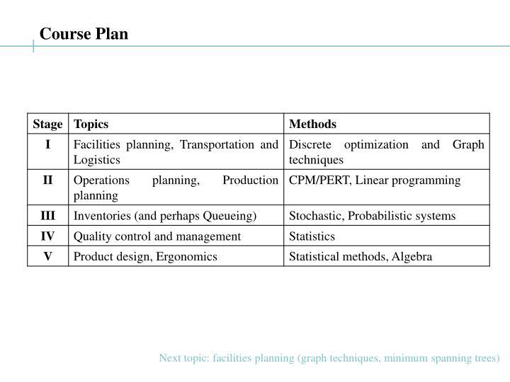 Course Plan