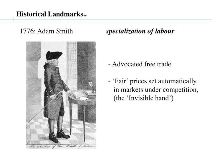 Historical Landmarks..