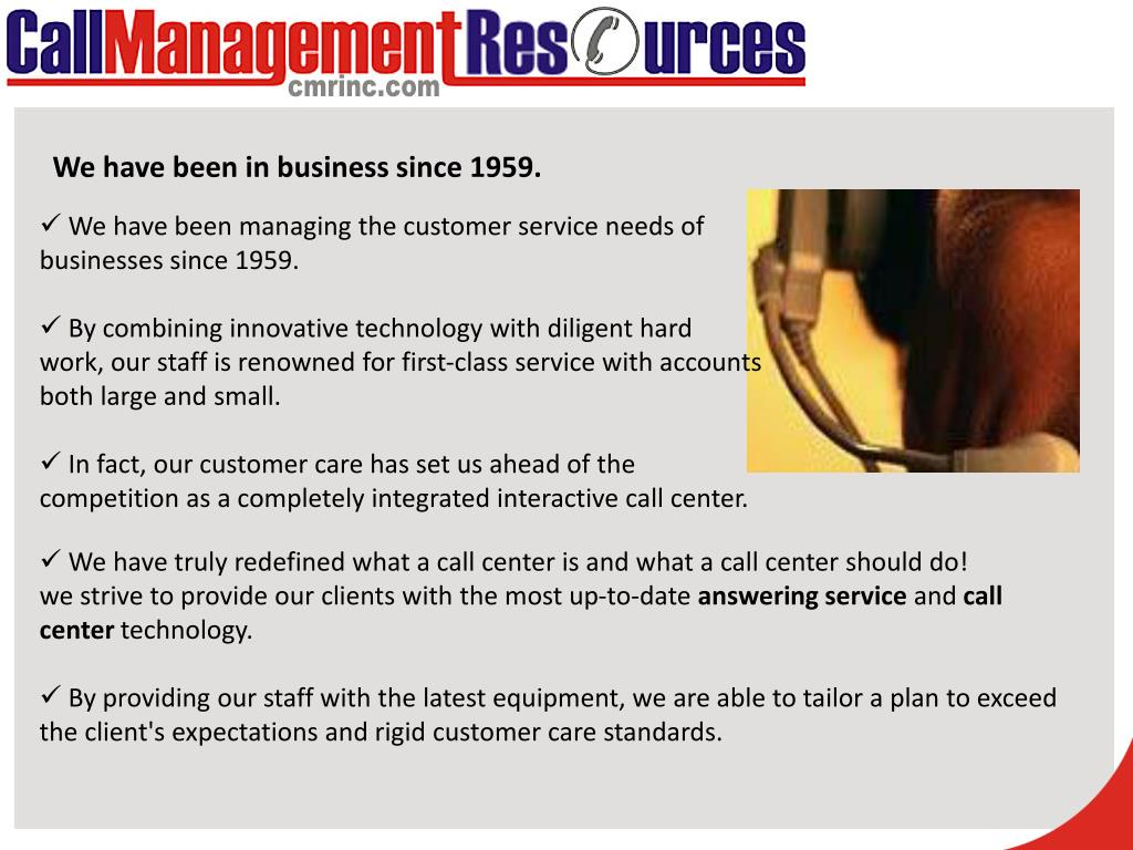 We have been in business since 1959.