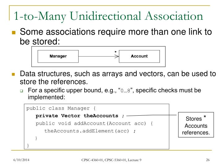 1-to-Many Unidirectional Association
