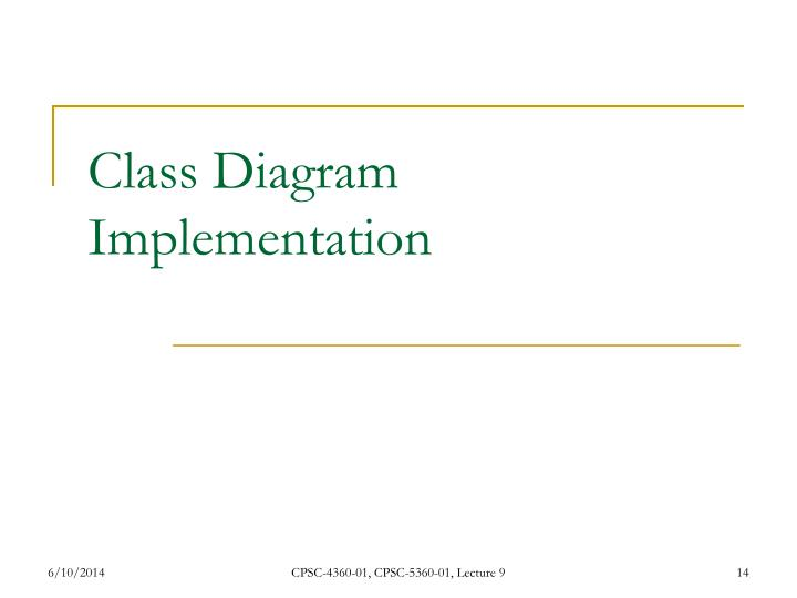 Class Diagram Implementation