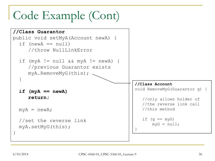 Code Example (Cont)