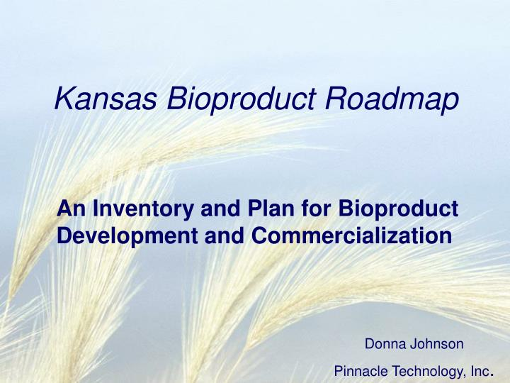 Kansas bioproduct roadmap
