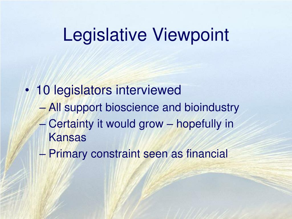 Legislative Viewpoint
