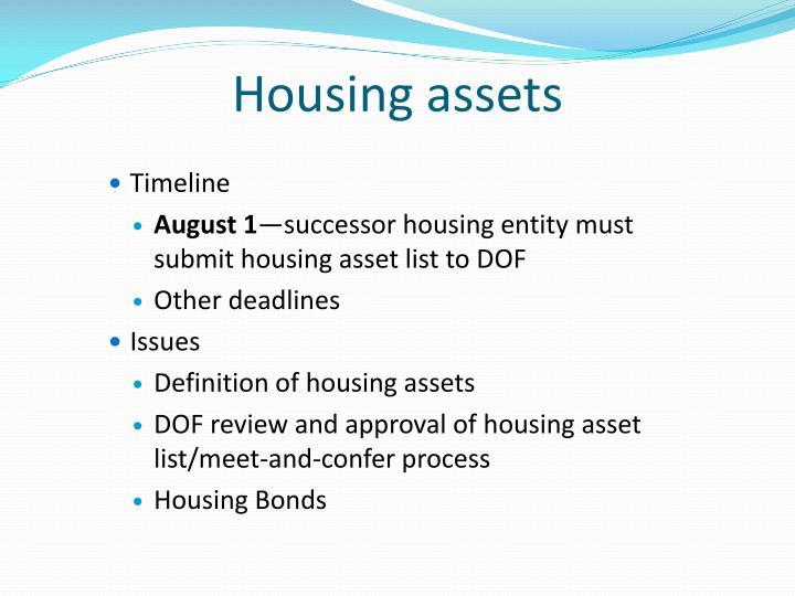 Housing assets