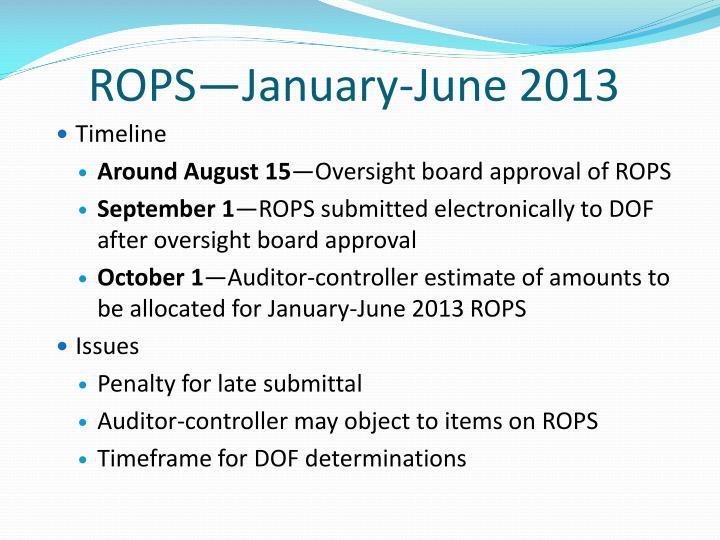 ROPS—January-June 2013