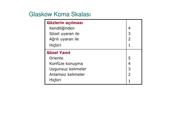 Glaskow Koma Skalas