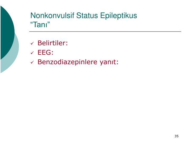Nonkonvulsif Status Epileptikus