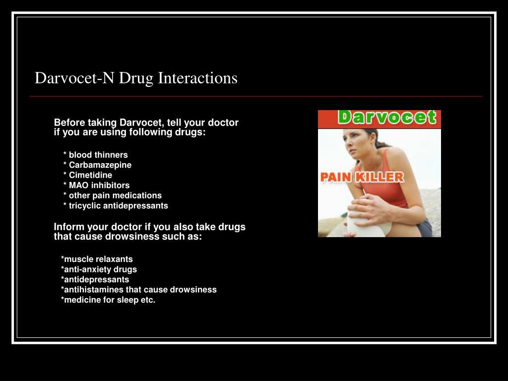 Darvocet-N Drug Interactions