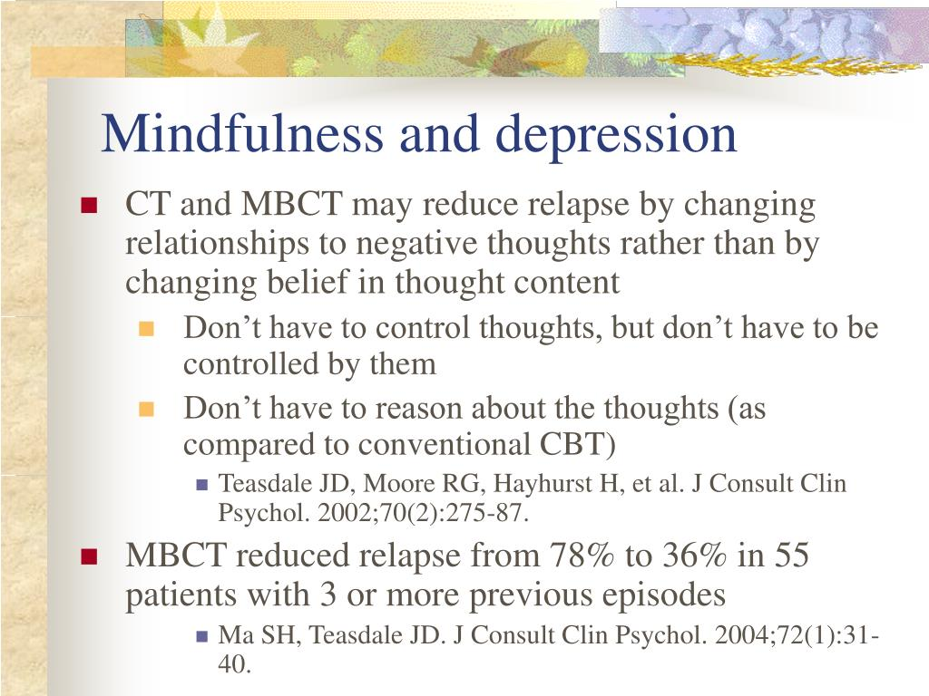 Mindfulness and depression
