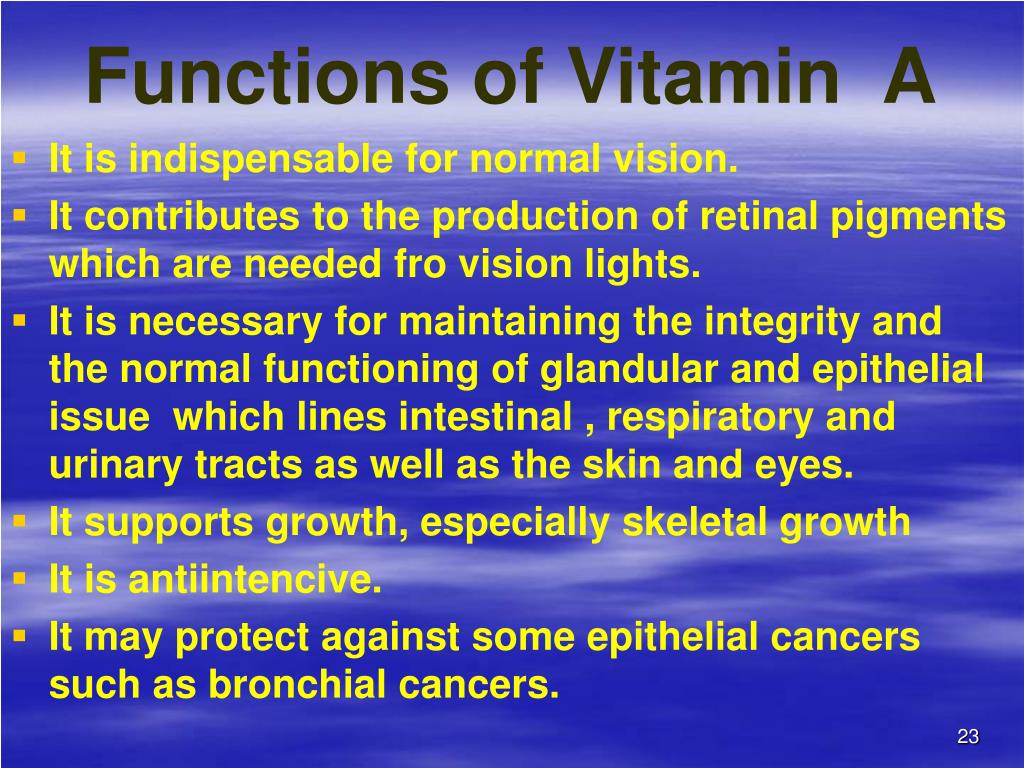 Functions of Vitamin  A