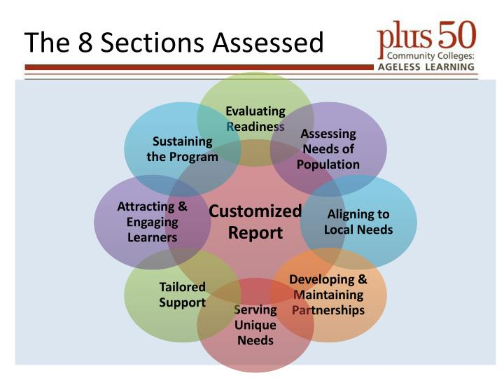 The 8 Sections Assessed