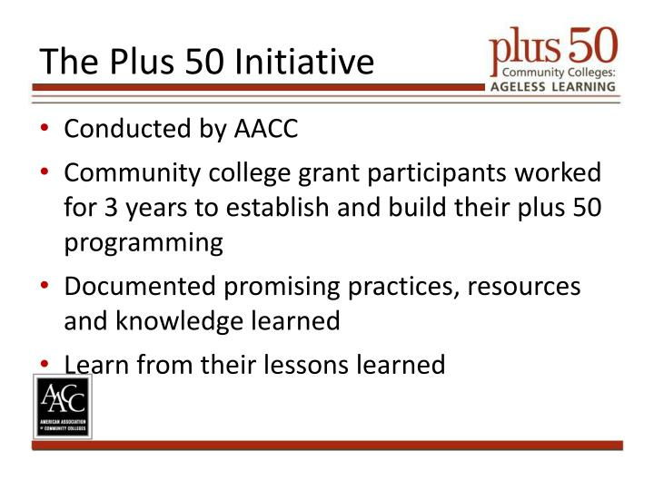 The Plus 50 Initiative