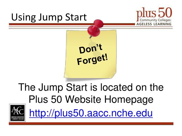 Using Jump Start