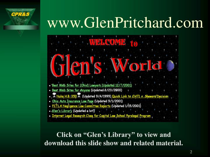 www.GlenPritchard.com