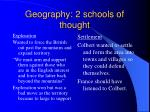 geography 2 schools of thought