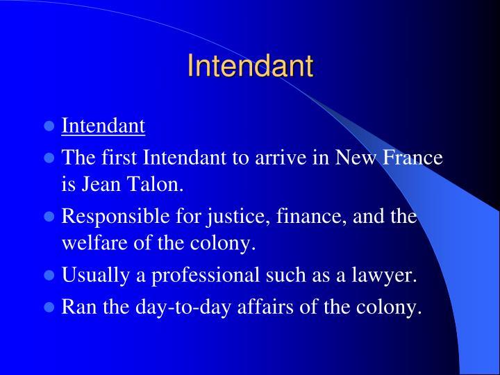 Intendant
