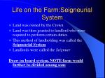 life on the farm seigneurial system