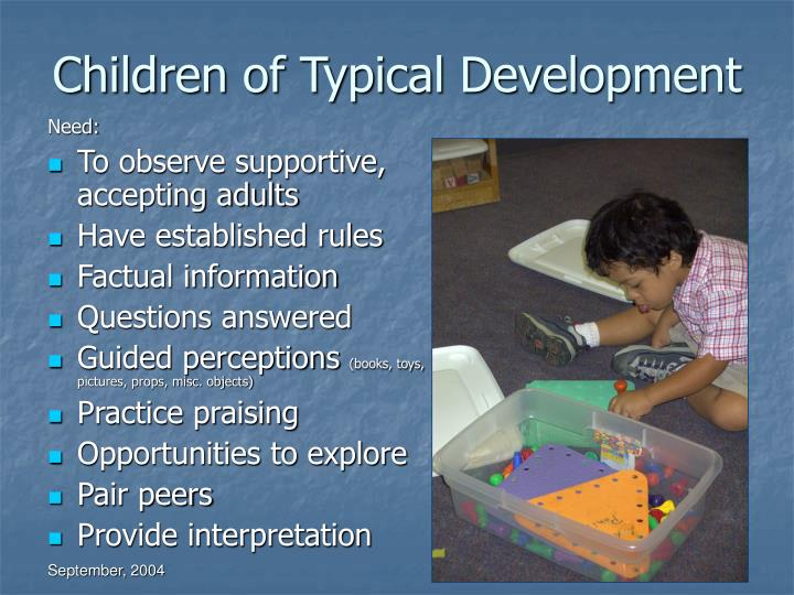 Children of Typical Development