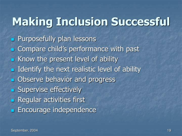 Making Inclusion Successful
