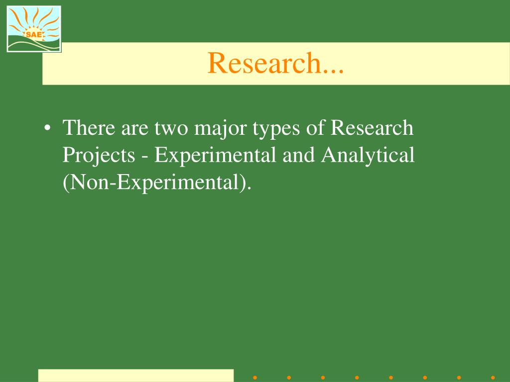 Research...