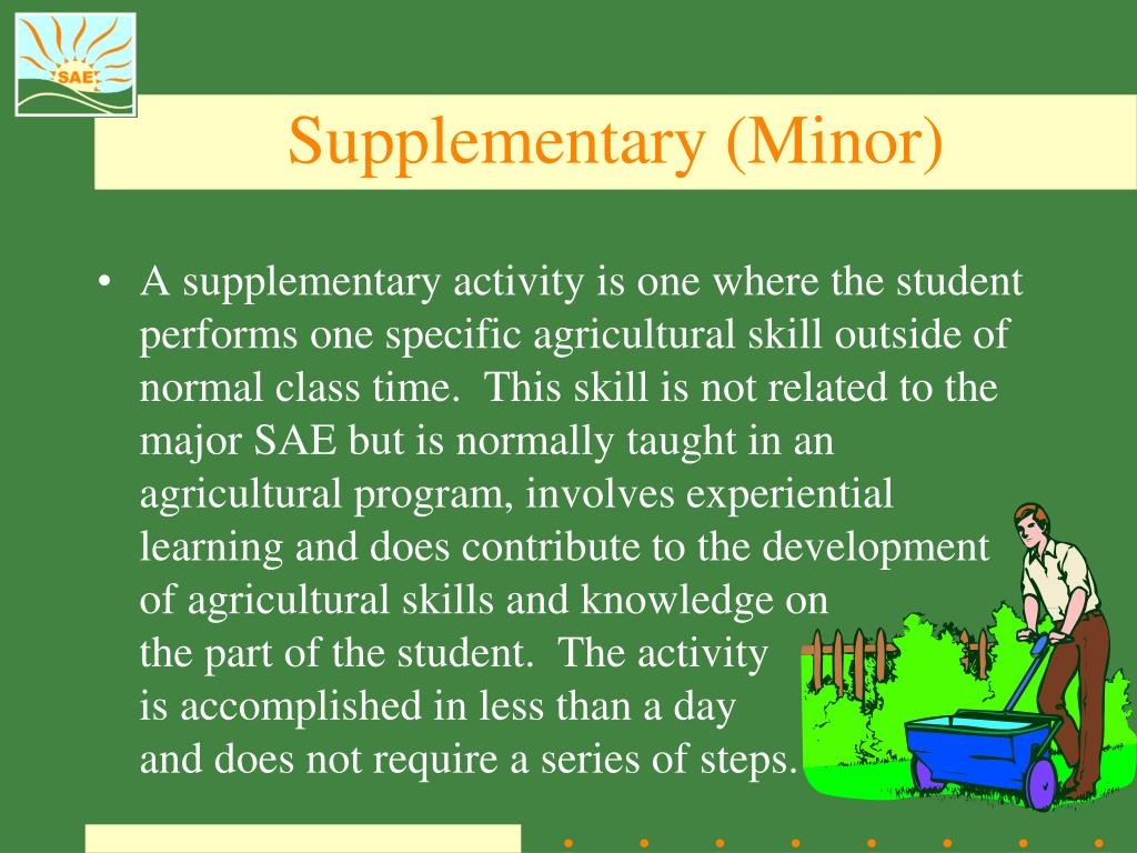 Supplementary (Minor)