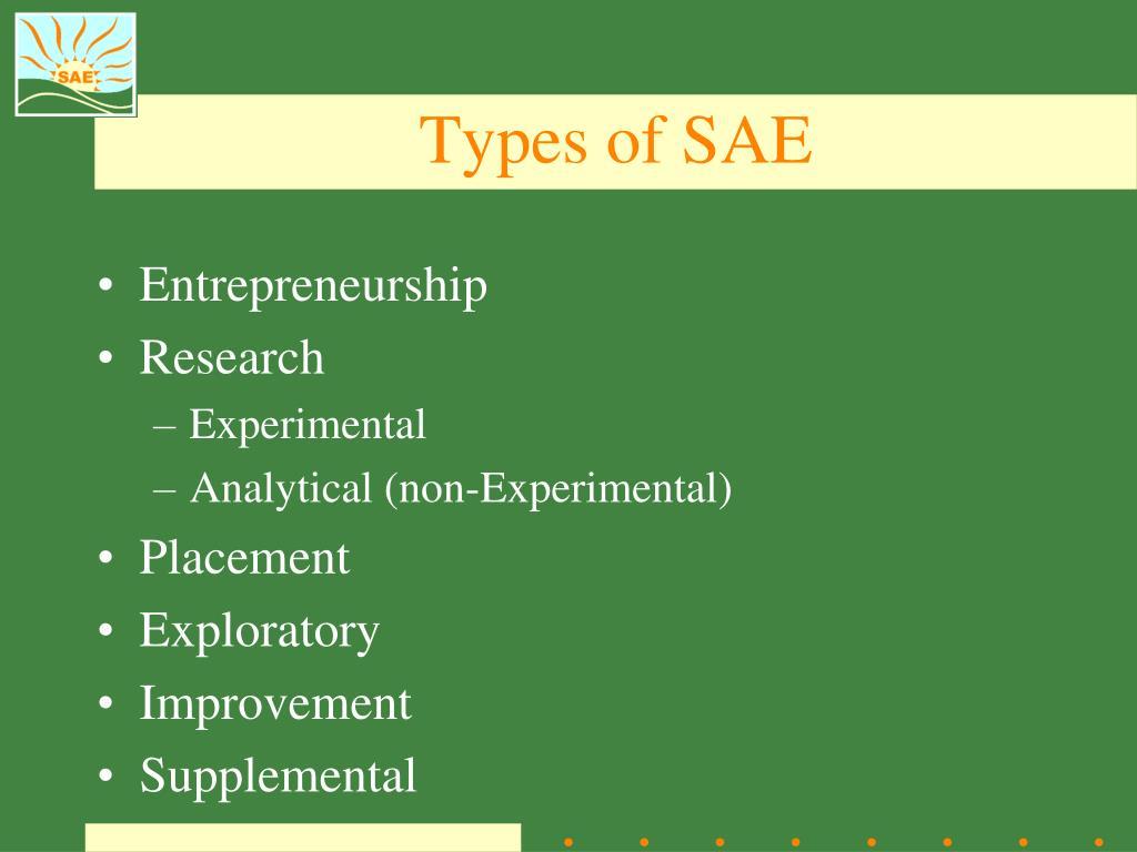 Types of SAE