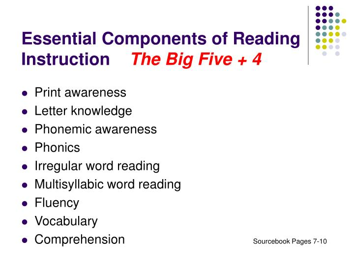 Essential Components of Reading Instruction