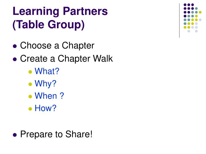 Learning Partners
