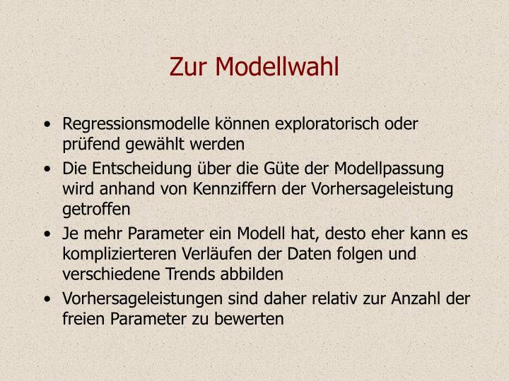 Zur Modellwahl