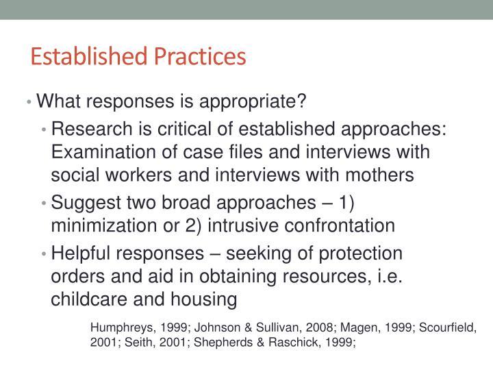 Established Practices
