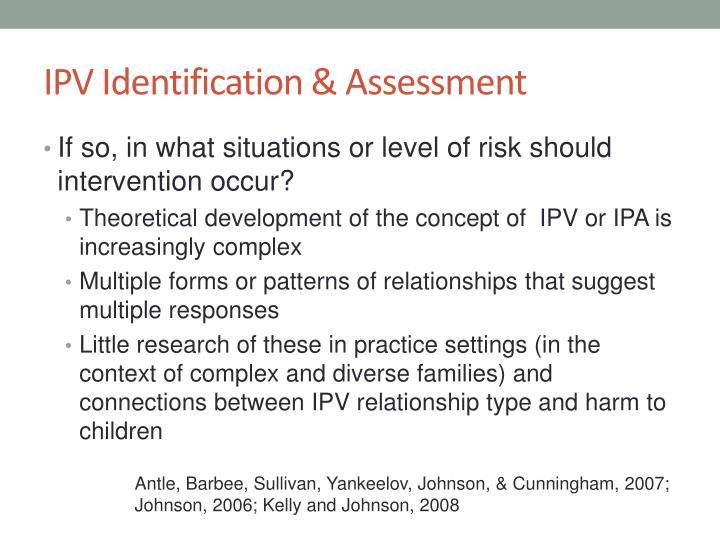 IPV Identification & Assessment