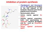 inhibition of protein synthesis6