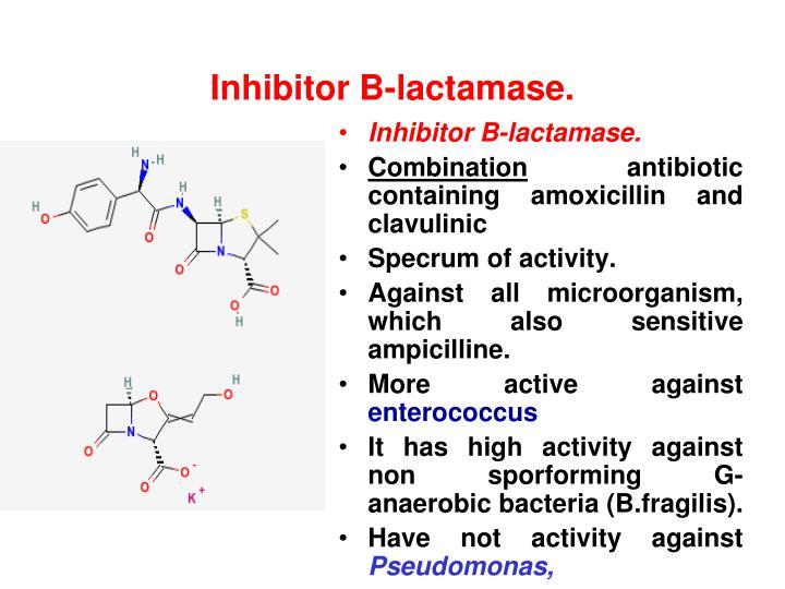Inhibitor B-lactamase.