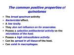 the common positive properties of quinolones