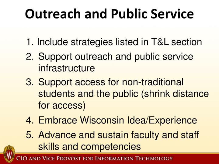 Outreach and Public Service