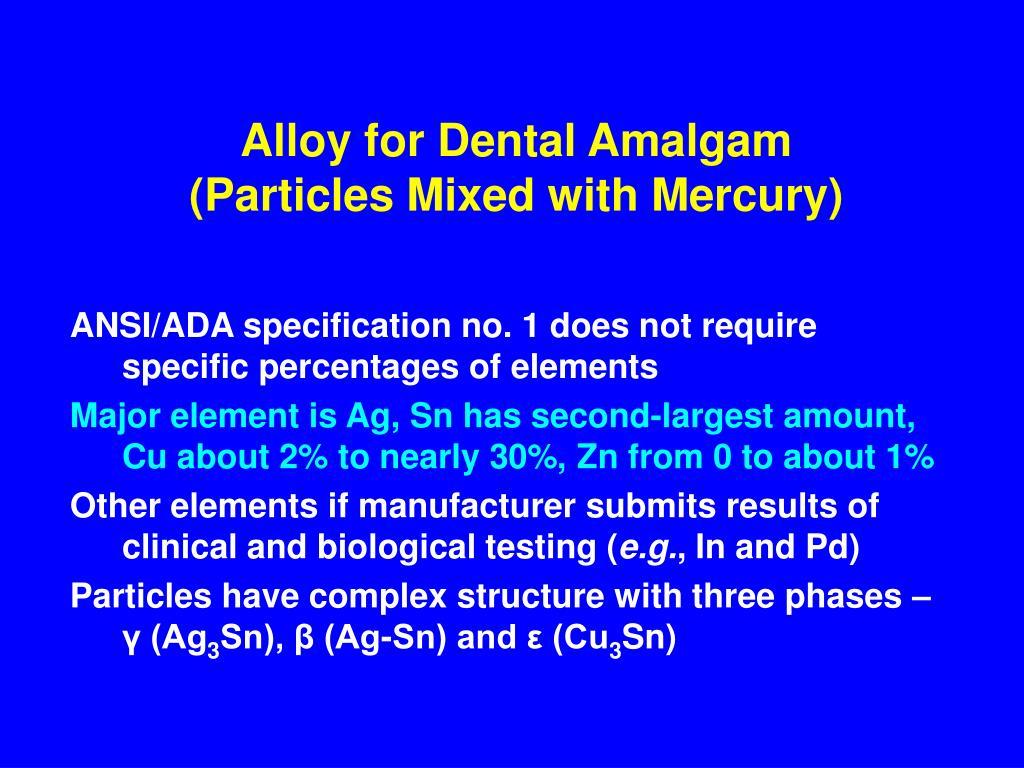 Alloy for Dental Amalgam