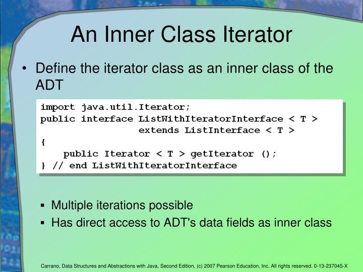 An Inner Class Iterator