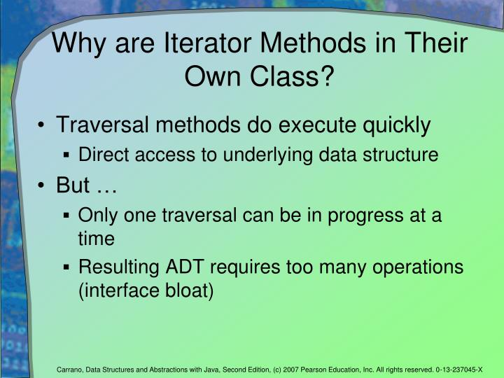 Why are Iterator Methods in Their Own Class?