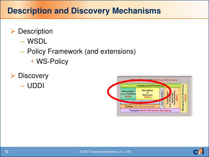 Description and Discovery Mechanisms