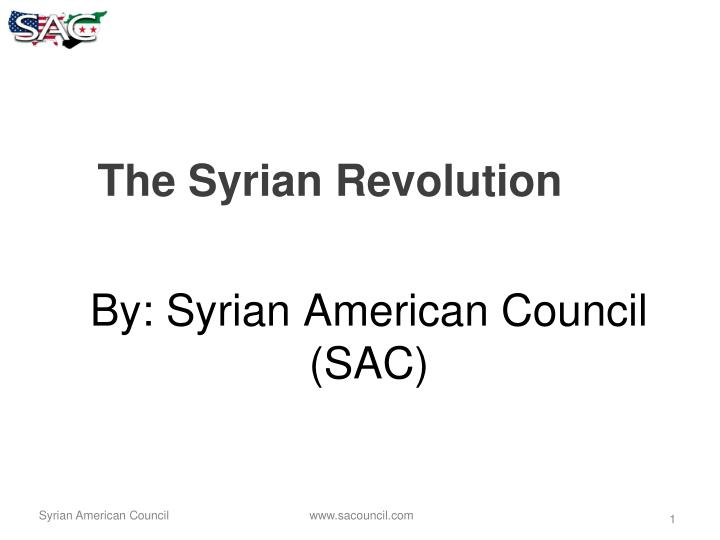 By: Syrian American Council