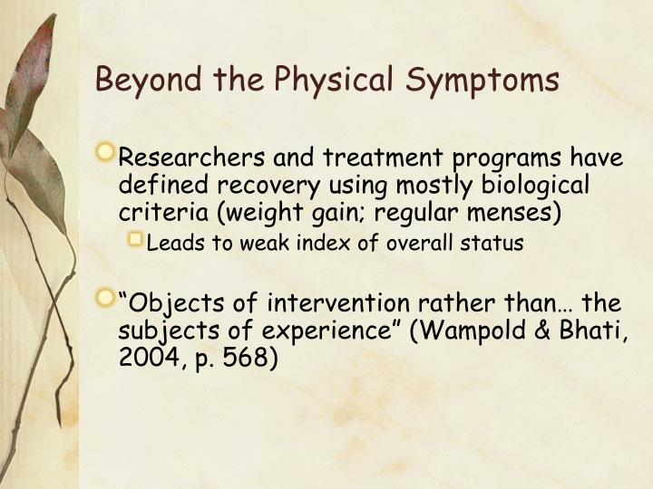 Beyond the Physical Symptoms