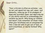 dear critic1